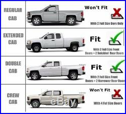 Fits 2015-2018 Chevrolet Colorado Extended Cab 4 S. S Curved Running Boards Bars