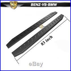 Fits 99-19 Chevy Silverado GMC Sierra Crew Cab 6 Side Nerf Bar Running Boards