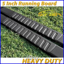 For 00-18 CHEVROLET Tahoe 5 Black Running Board Nerf Bar Side Bar Side Step H
