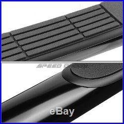 For 00-19 Sierra Crew Cab Black Carbon Steel 3side Step Nerf Bar Running Board