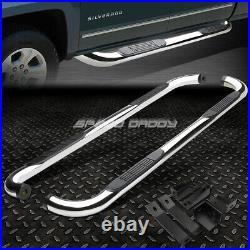 For 00-19 Sierra Crew Cab Chrome Stainless 3side Step Nerf Bar Running Board