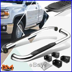 For 00-19 Silverado/Sierra Regular Cab 3Side Step Nerf Bar Running Board Chrome