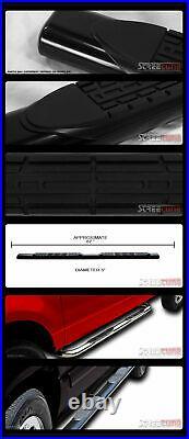 For 01-14 Silverado/Sierra Crew Cab 5 Tube Blk Side Step Nerf Bar Running Board