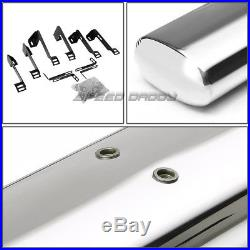For 01-16 Chevy Silverado Crew 4 Oval Chrome Side Step Nerf Bar Running Board