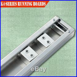 For 01-16 Chevy Silverado Crew Cab 4 Running Boards Side Step Stainless Steel H