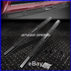 For 01-16 Chevy Silverado Crew Cab 4oval Black Side Step Nerf Bar Running Board