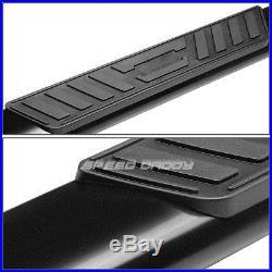 For 01-16 Gmc Sierra Crew Cab 5black Oval Side Step Nerf Bar Running Board/rail