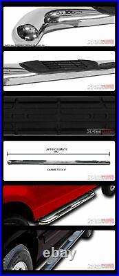For 02-09 Envoy Xl/Trailblazer Ext 3 Chrome Stainless Step Bars Running Boards