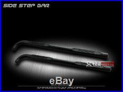 For 02-09 GMC Envoy/Chevy Trailblazer 3 Matte Blk Side Step Bars Running Boards