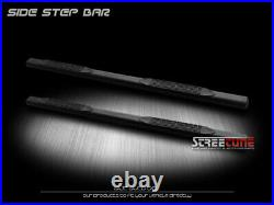 For 04-12 Colorado/Canyon Crew 4 Matte Black Oval Side Step Bars Running Boards