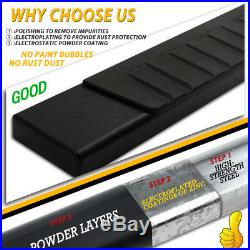 For 04-12 Colorado/Canyon Crew Cab 4 Nerf Bar Running Board Side Step BLK H