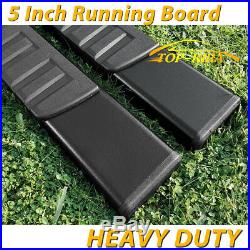 For 04-12 Colorado / Canyon Crew Cab 5 Running Board Nerf Bar Side Step H Black