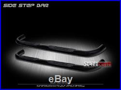 For 04-12 Colorado/Canyon Extended Cab 3 Blk Side Step Nerf Bar Running Board J