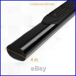 For 04-12 Colorado/Canyon Regular Cab 4 Side Step Nerf Bar Running Board Black