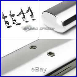 For 04-12 Colorado/canyon Reg Cab 4oval Chrome Side Step Nerf Bar Running Board