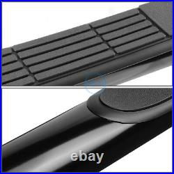For 04-14 Colorado Canyon Crew Cab 3 Curved Mild Steel Step Bar Running Boards