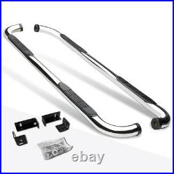 For 04-14 Colorado/GMC Canyon Crew Cab 3Side Step Nerf Bar Running Board Chrome