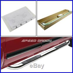 For 04-14 Colorado/canyon Crew Cab Chrome 3 Side Step Nerf Bar Running Board