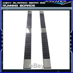 For 07-17 Chevy Silverado Sierra 1500 Crew Cab 6inch Nerf Bar Running Board Pair