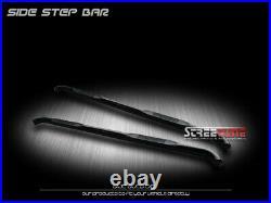 For 07-18 Chevy Silverado Crew Cab 3 Black Hd Side Step Nerf Bars Running Board