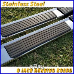 For 07-18 Chevy Silverado Crew Cab 6 Running Board Side Step Nerf Bar Chrome S