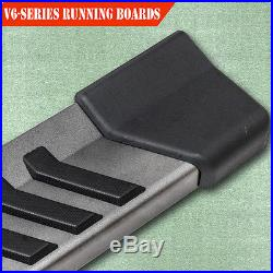 For 07-18 Chevy Silverado Double Cab 6 Running Boards Side Step Nerf V Grey