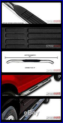 For 07-18 Chevy Silverado Reg Cab 3 Chrome Side Step Nerf Bars Running Boards