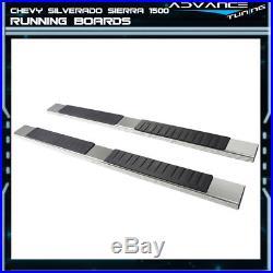 For 07-18 Chevy Silverado Sierra 1500 Crew Cab 5inch Nerf Bar Running Boards SS