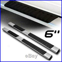 For 07-18 GMC Sierra Chevy Silverado Double Cab Polish Side Step Running Boards