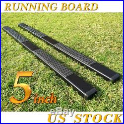 For 07-18 Silverado Double/Ext. Cab 5 Running Board Nerf Bar Side Step DH Black