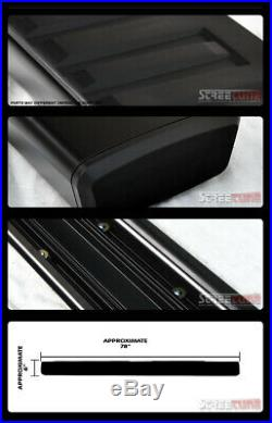 For 07-18 Silverado Ext/Double Cab 6Aluminum Black Side Step Running Boards