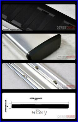 For 07-18 Silverado Ext/Double Cab 6Aluminum Silver Side Step Running Board