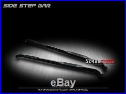 For 07-18 Silverado/Sierra Crew Cab 3 Blk Hd Side Step Nerf Bars Running Boards