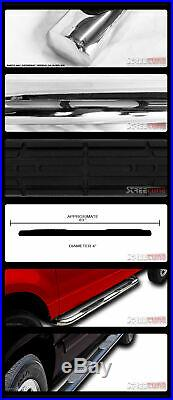 For 07-18 Silverado/Sierra Crew Cab 4 Oval Chrome Side Step Bars Running Boards