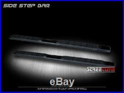 For 07-18 Silverado/Sierra Crew Cab 5 Black Heavyduty Step Bars Running Boards