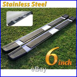 For 07-18 Silverado/Sierra Double Cab 6 Running Board Nerf Bar Side Step S/S S