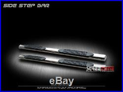 For 07-18 Silverado/Sierra Ext 4 Oval Chrome Side Step Nerf Bars Running Boards