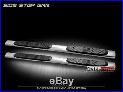For 07-18 Silverado/Sierra Ext 5 Chrome Stainless Side Step Bar Running Boards