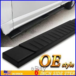 For 07-18 Silverado/Sierra Regular Cab 6 Side Step Running Board Nerf Bar BLK H