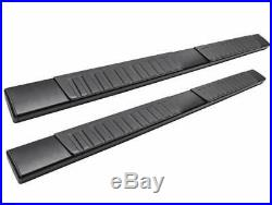 For 07-19 Silverado/Sierra 6 Black Crew Nerf Bar Running Board Side Step+Cover