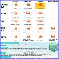 For 07-19 Silverado/Sierra Crew Cab 5 Side Step Nerf Bar Running Board Chrome