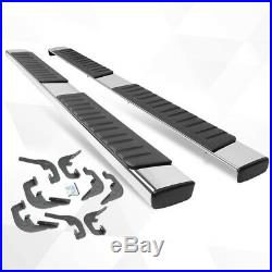 For 07-19 Silverado/Sierra Crew Cab 6 Side Step Nerf Bar Running Board Chrome