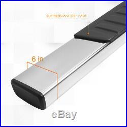 For 07-19 Silverado/Sierra Ext Cab 6 Side Step Nerf Bar Running Board Chrome