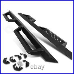 For 07-19 Silverado/Sierra Ext Cab Side Nerf Bar Running Board with5 Cleat Step