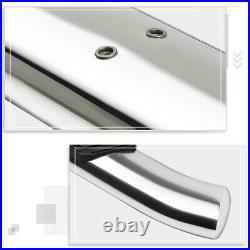 For 07-19 Silverado/Sierra Ext Curved Oval 5 Step Nerf Bar Running Board Chrome