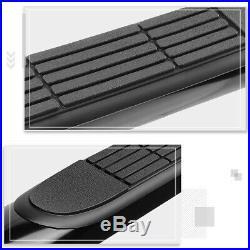 For 07-19 Silverado/Sierra Extended Cab 3Side Step Nerf Bar Running Board Black