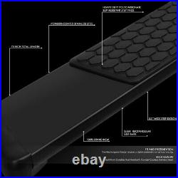 For 07-19 Silverado Sierra Extended Cab 5.5 Black Side Step Bar Running Boards