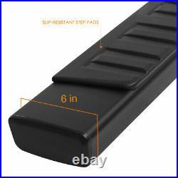 For 07-19 Silverado/Sierra Extended Cab 6 Step Aluminum Running Boards Black
