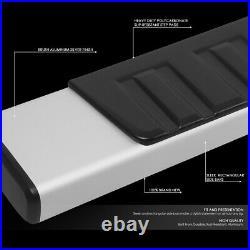 For 07-19 Silverado Sierra Extended Cab 6silver Side Step Bar Running Boards