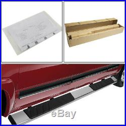 For 07-19 Silverado Sierra Extended Cab Stainless Steel Step Bar Running Boards
